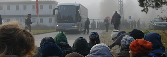 Blockade in Horst | Foto: Dominik Brueck / hh-mittendrin.de